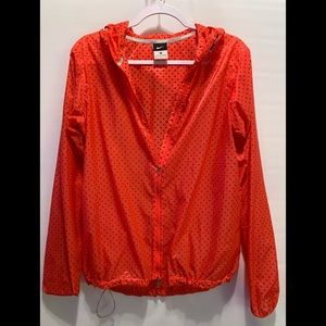 Nike Polka Dot Orange /Red Lightweight Jacket